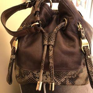 B MAKOWSKY genuine leather shoulder bag